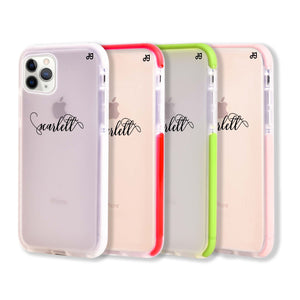 Abstract script writing Shockproof Bumper Case
