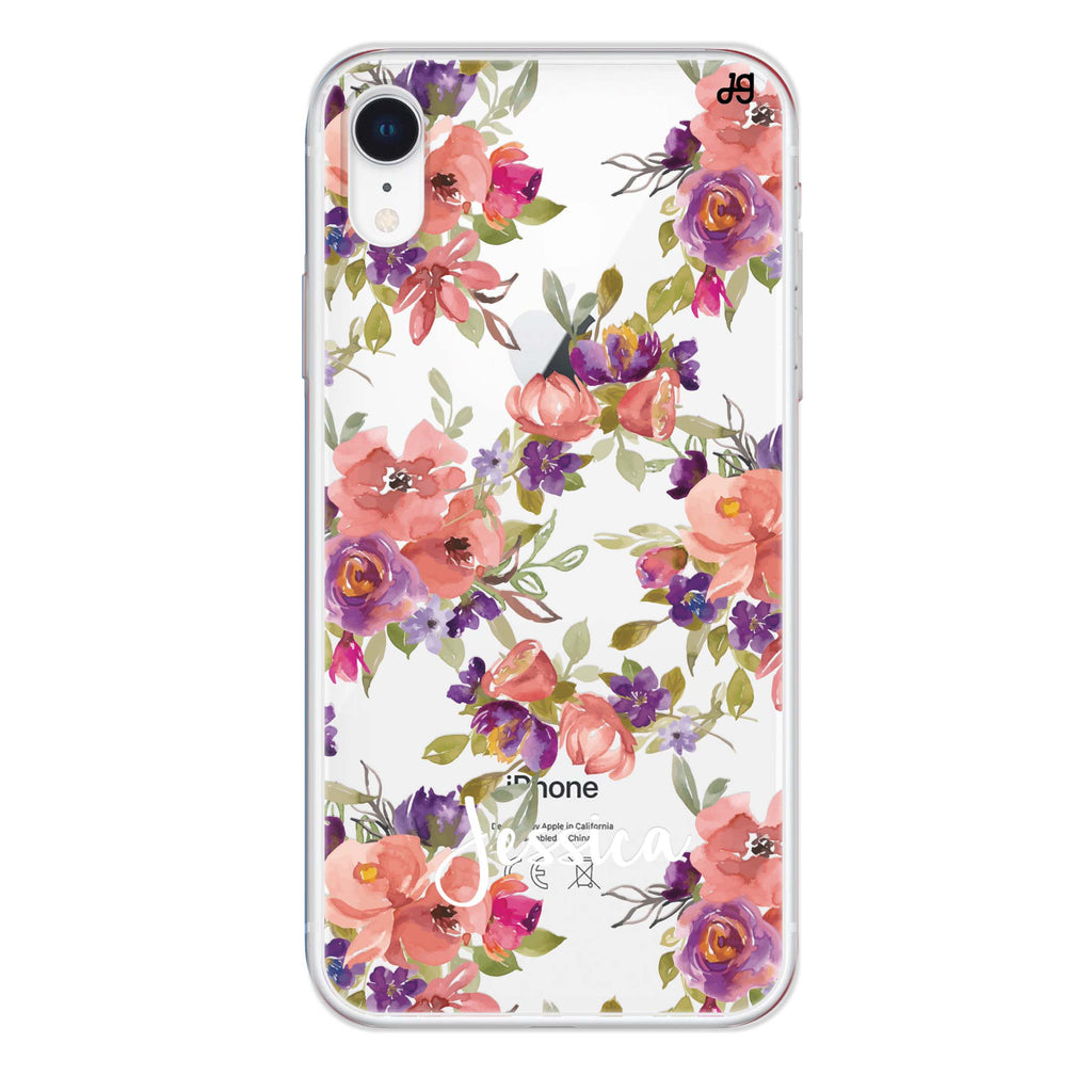 Floral Impression iPhone XR Soft Clear Case