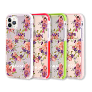 Floral Impression - Frosted Bumper Case and Watch Band