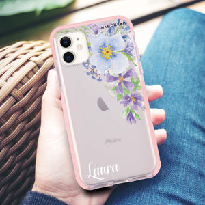 Floral & Black Marble iPhone X Case