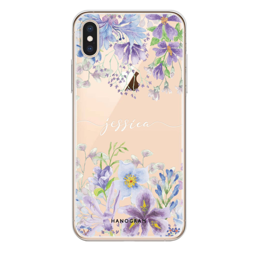 Flowers Bloom iPhone XS Soft Clear Case