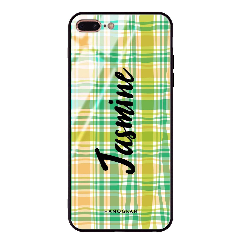 Plaid iPhone 8 Plus Glass Case