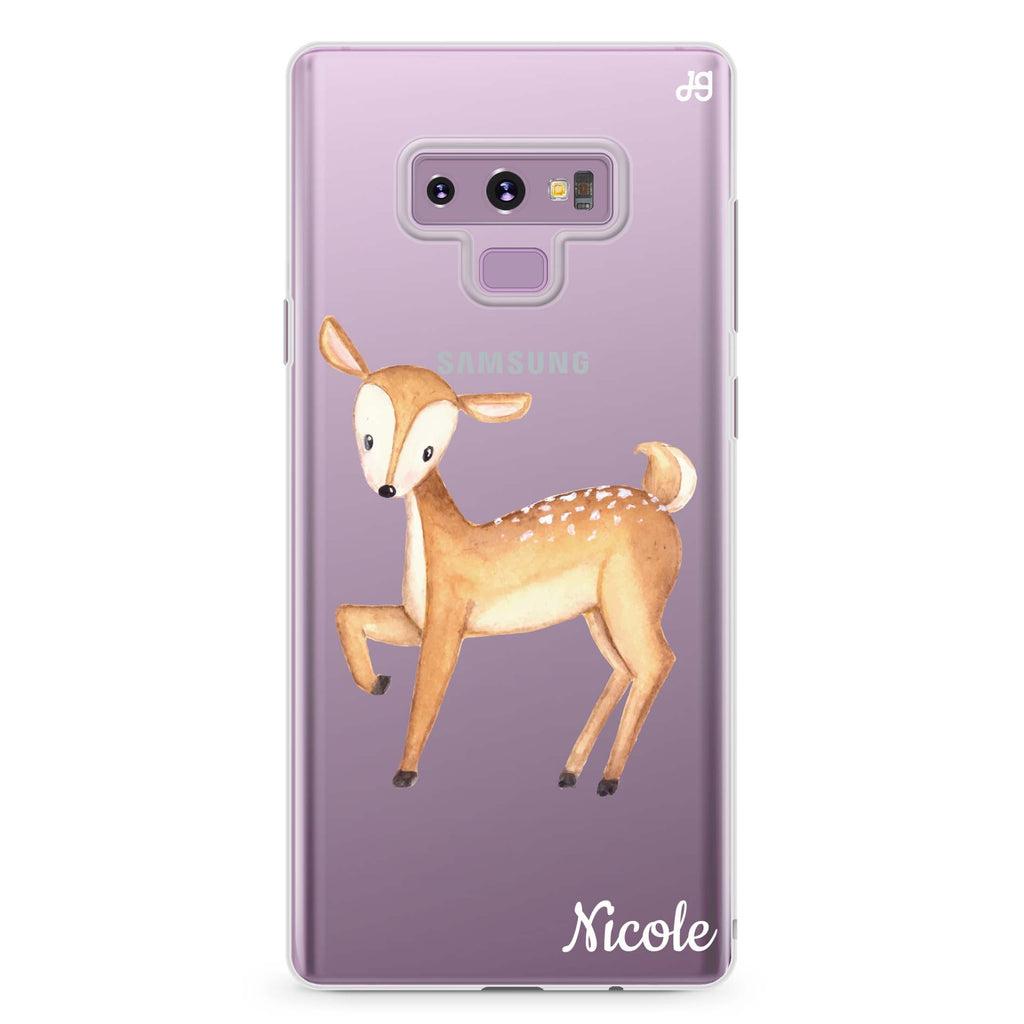 Funny Deer Samsung Note 9 Soft Clear Case