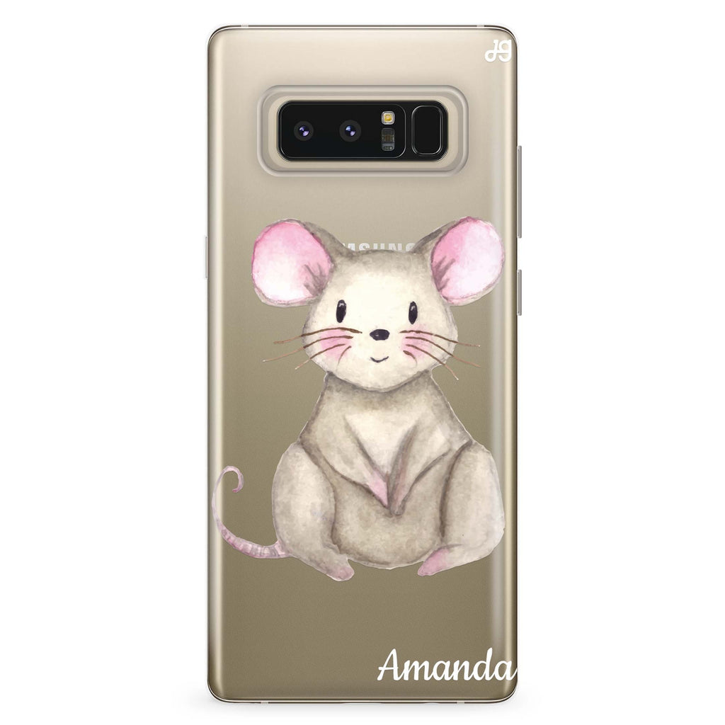 Little Mouse Samsung Note 8 Soft Clear Case