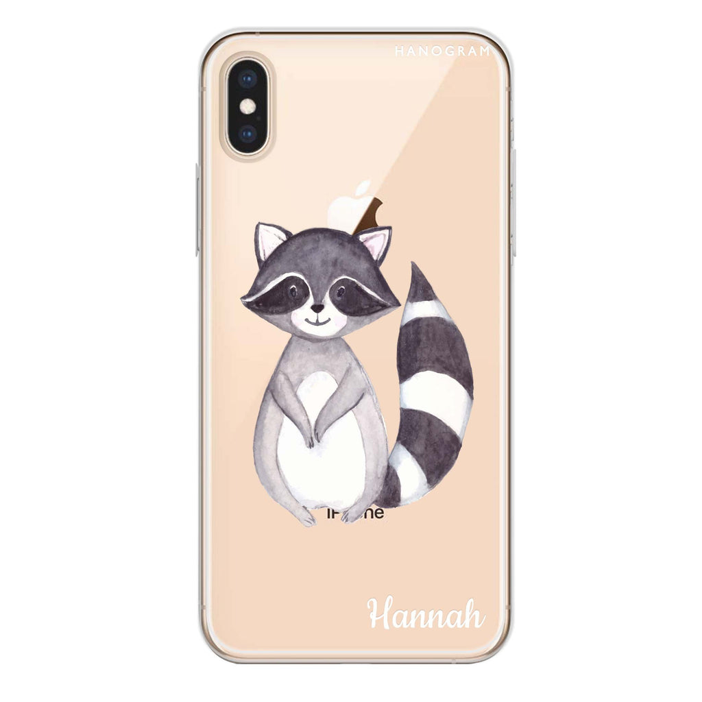 Smiling Raccoon iPhone XS Soft Clear Case