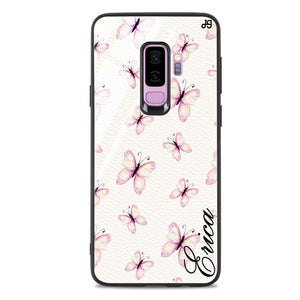 Vintage Butterfly Samsung S9 Plus Glass Case