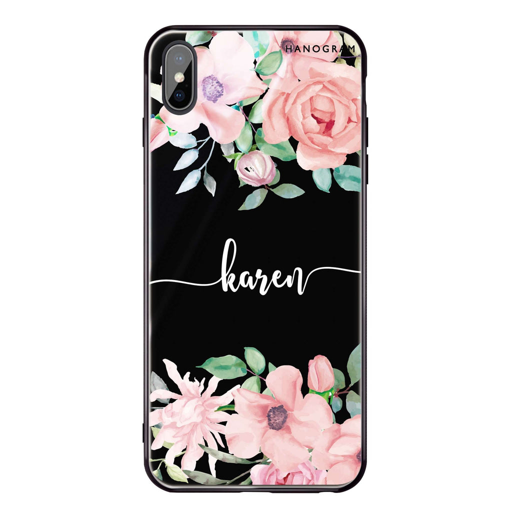 Forever Love Rose iPhone XS Max Glass Case