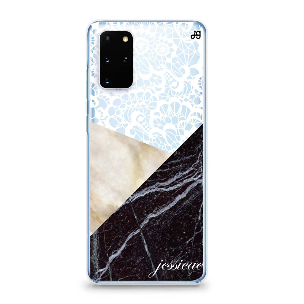 Marble Lace Samsung S20 Soft Clear Case