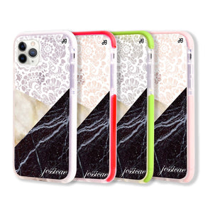 Marble Lace Shockproof Bumper Case