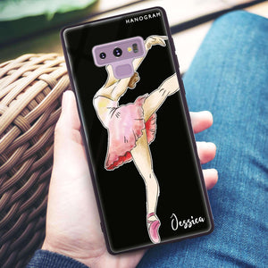 Ballet Girl Samsung Note 9 Glass Case