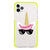 Cute Sunglasses unicorn Shockproof Bumper Case