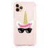 Cute Sunglasses unicorn Frosted Bumper Case