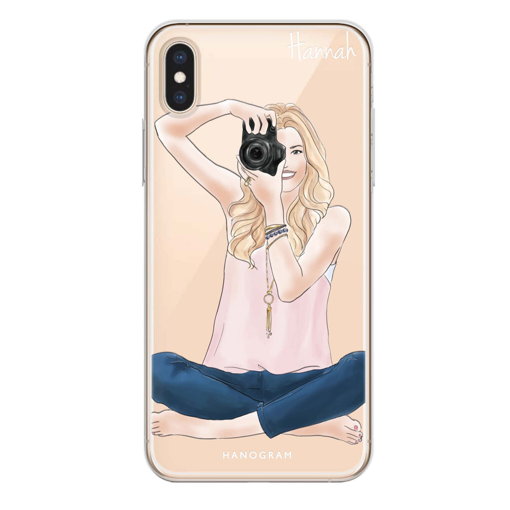 Camera girl I iPhone X Soft Clear Case