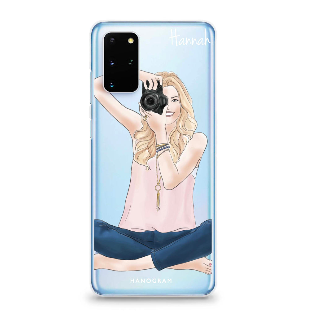 Camera girl I Samsung S20 Plus Soft Clear Case