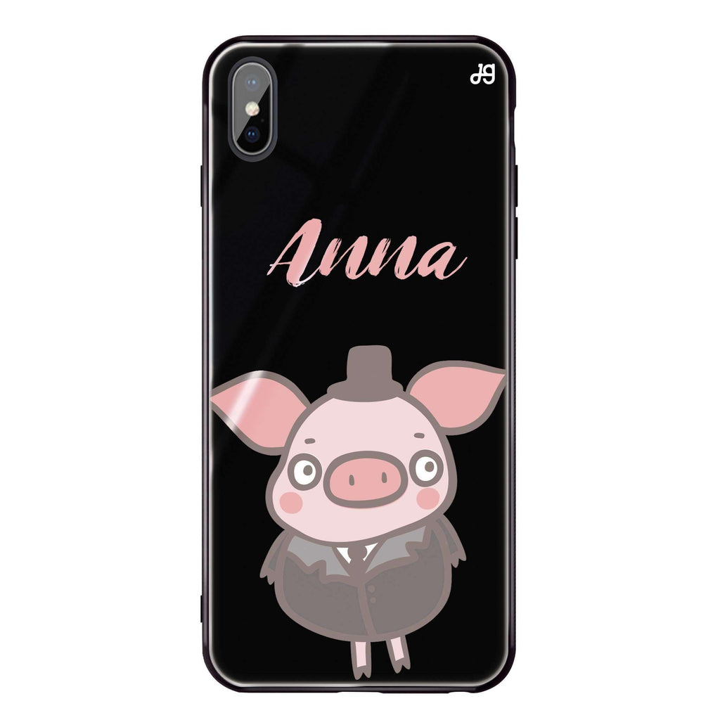 Funny Piggy iPhone XS Max Glass Case