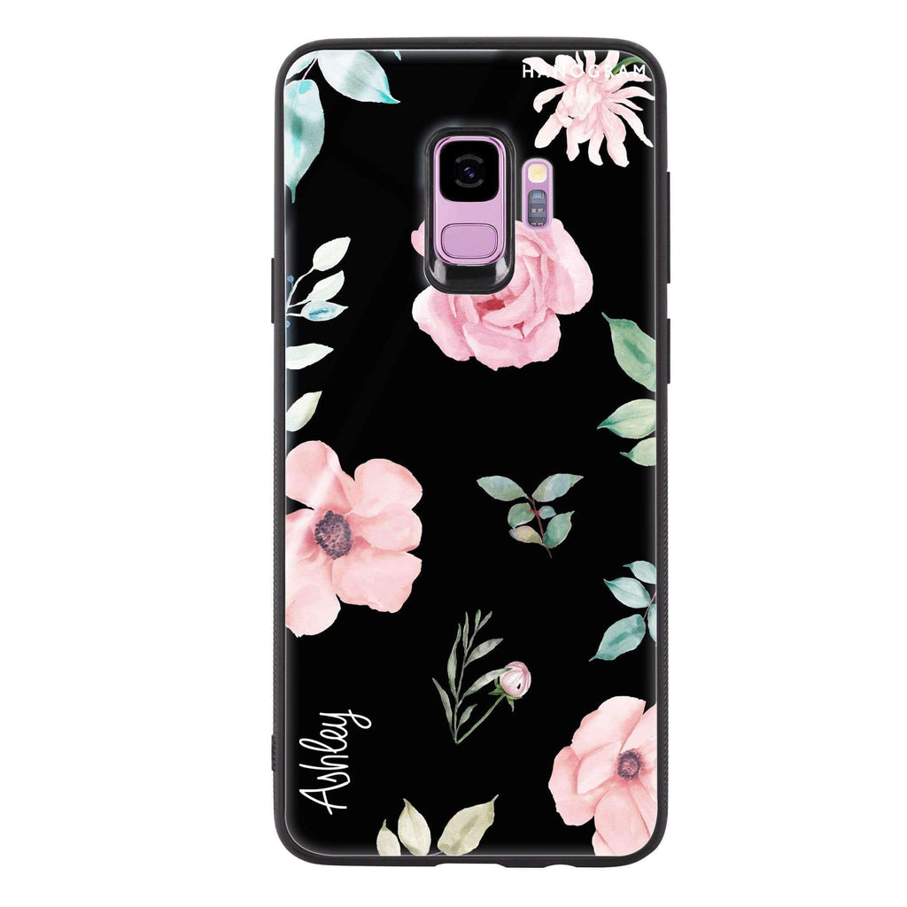 Rose Flower Samsung S9 Glass Case