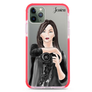 Camera girl III Shockproof Bumper Case