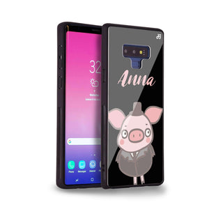 Funny Piggy Samsung Note 9 Glass Case