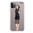 Black lace girl I Frosted Bumper Case