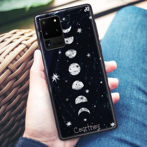 Phases of the moon Samsung Glass Case