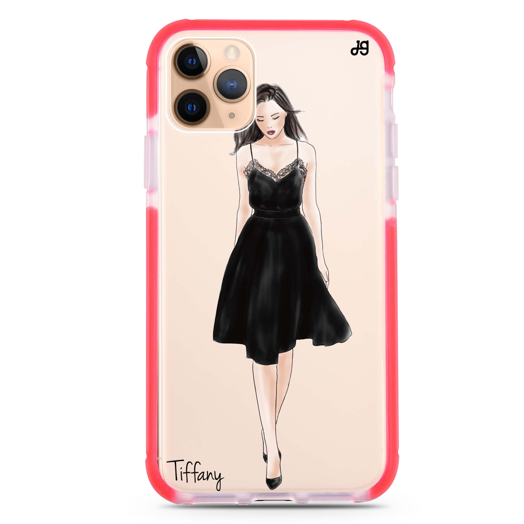 Black Lace Girl Ii Iphone 11 Pro Max Shockproof Bumper Case
