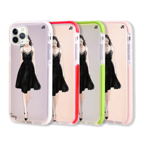 Black lace girl II Frosted Bumper Case