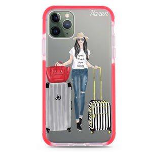 Travel girl I Frosted Bumper Case