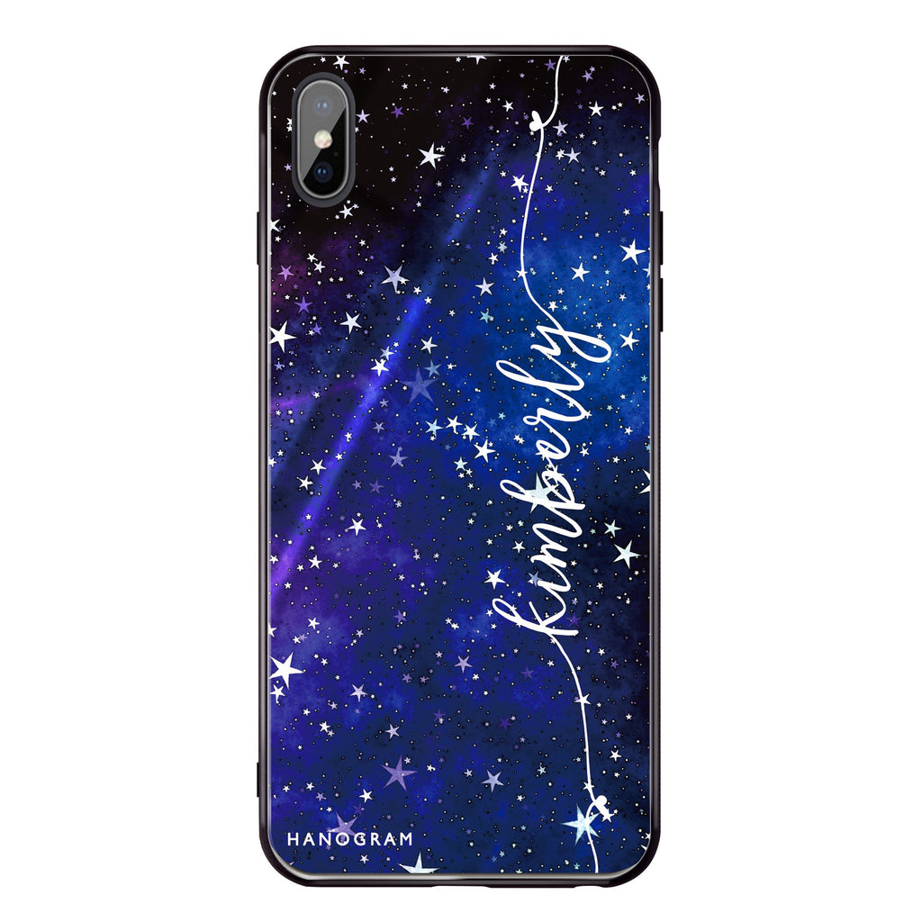 Stardust iPhone XS Max Glass Case