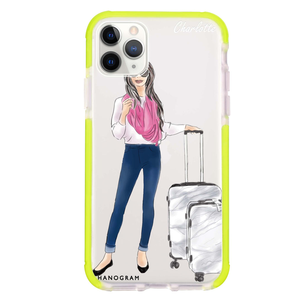 Travel girl II Shockproof Bumper Case