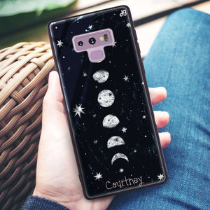 Phases of the moon Samsung Note 9 Glass Case