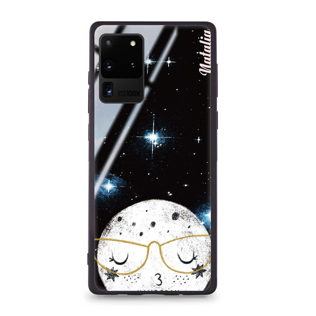 Glasses Moon Samsung Glass Case
