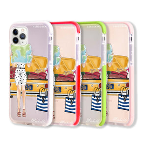 Travel girl III Frosted Bumper Case