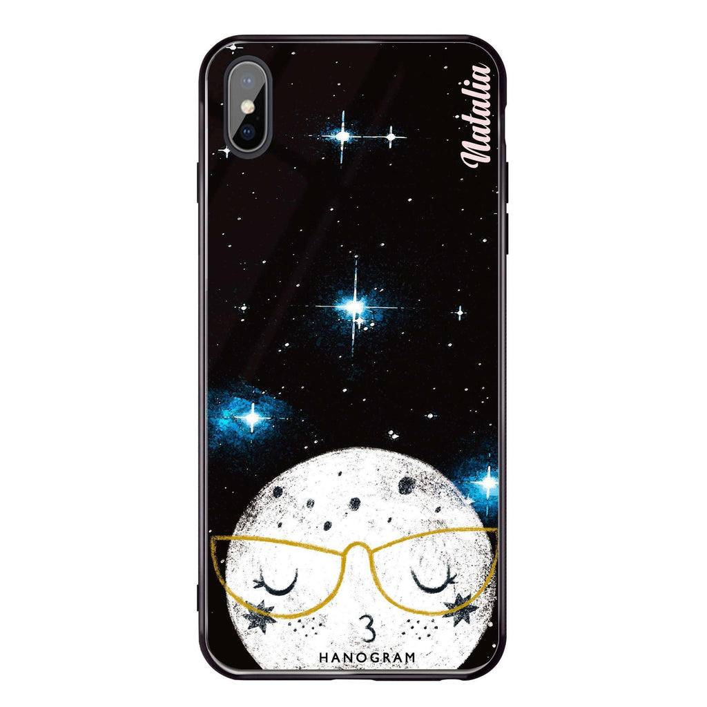 Glasses Moon iPhone XS Max Glass Case
