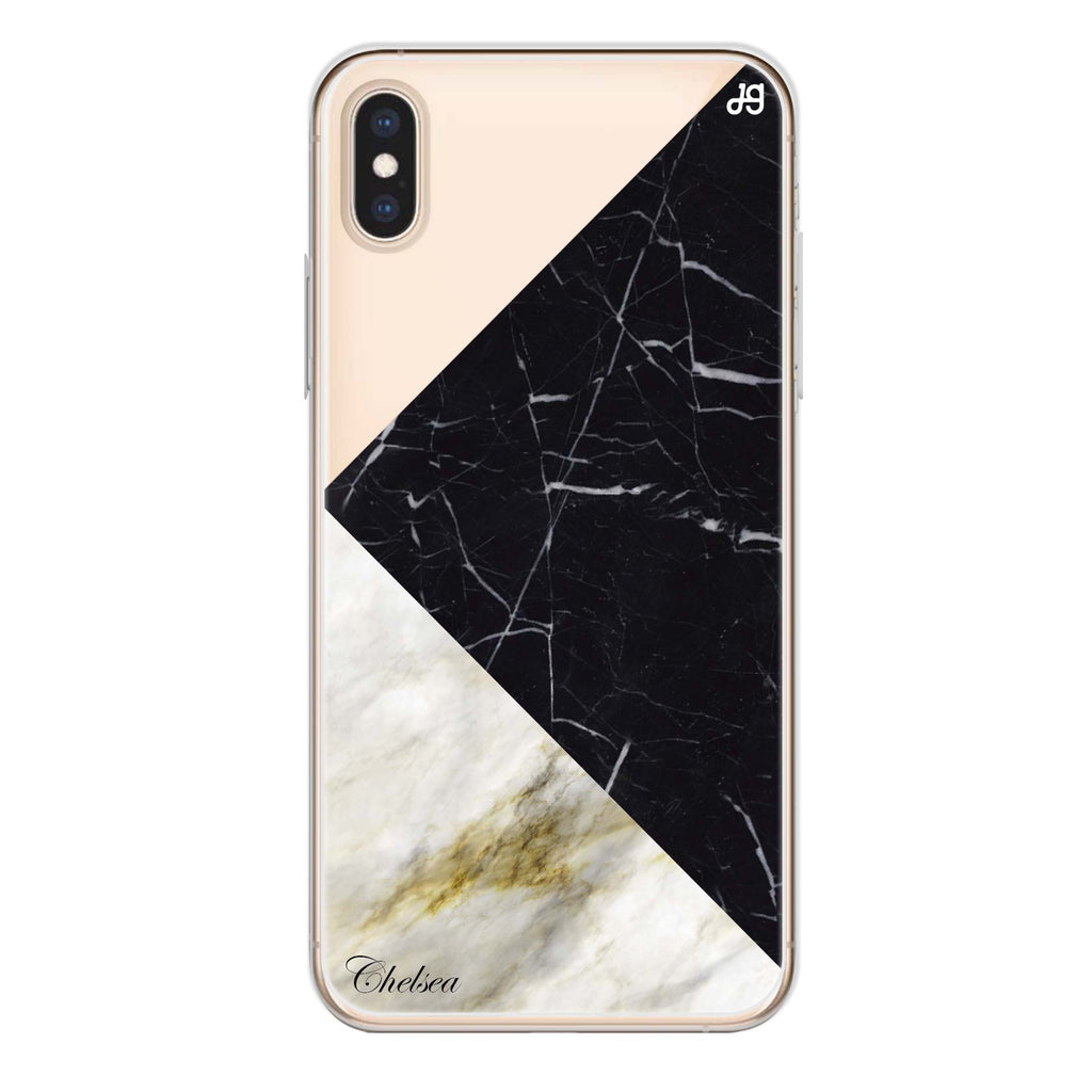 Marble Mix iPhone XS Max Soft Clear Case