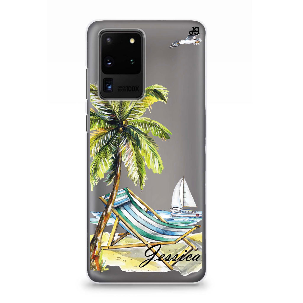 Summer on the beach Samsung S20 Ultra Soft Clear Case