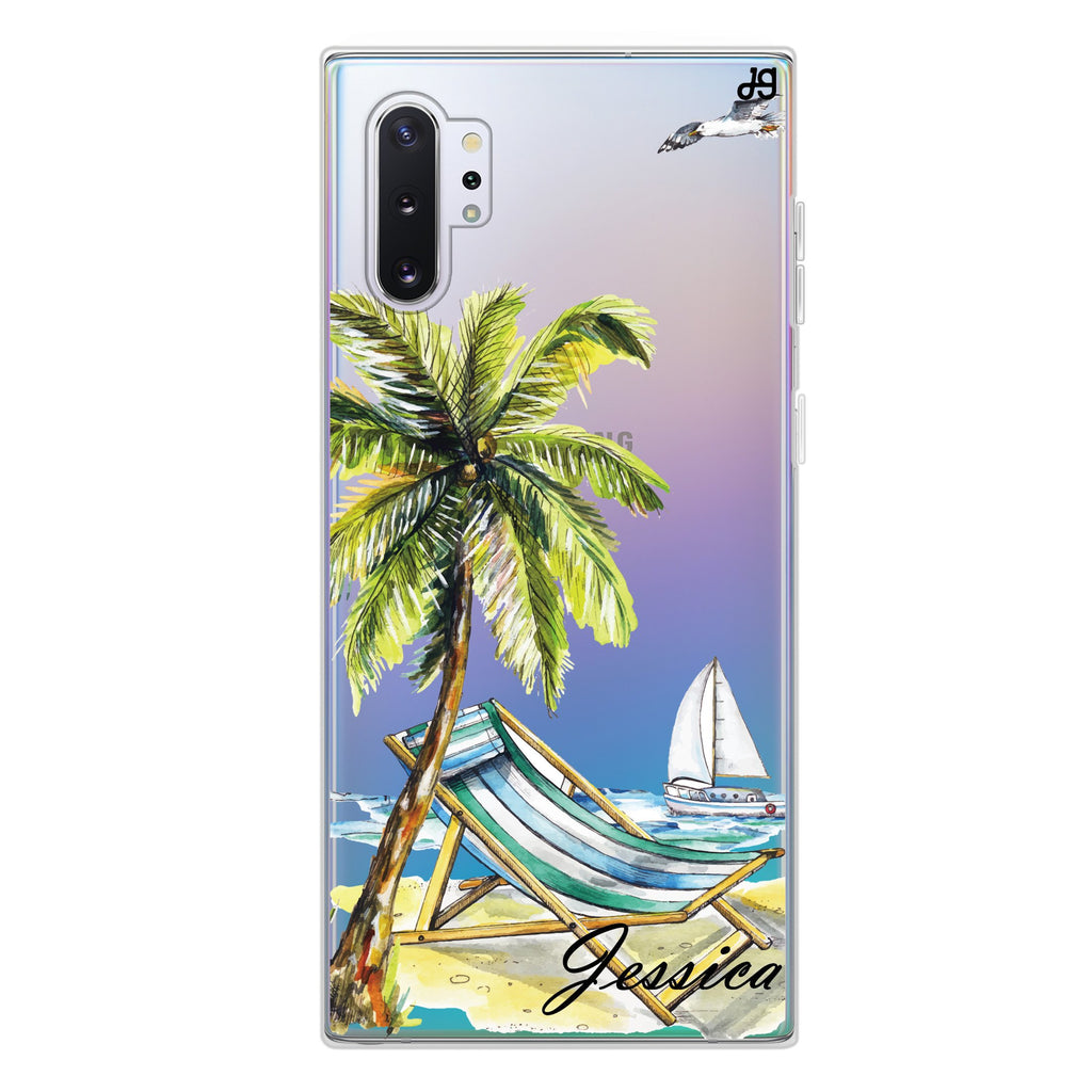 Summer on the beach Samsung Note 10 Plus Soft Clear Case