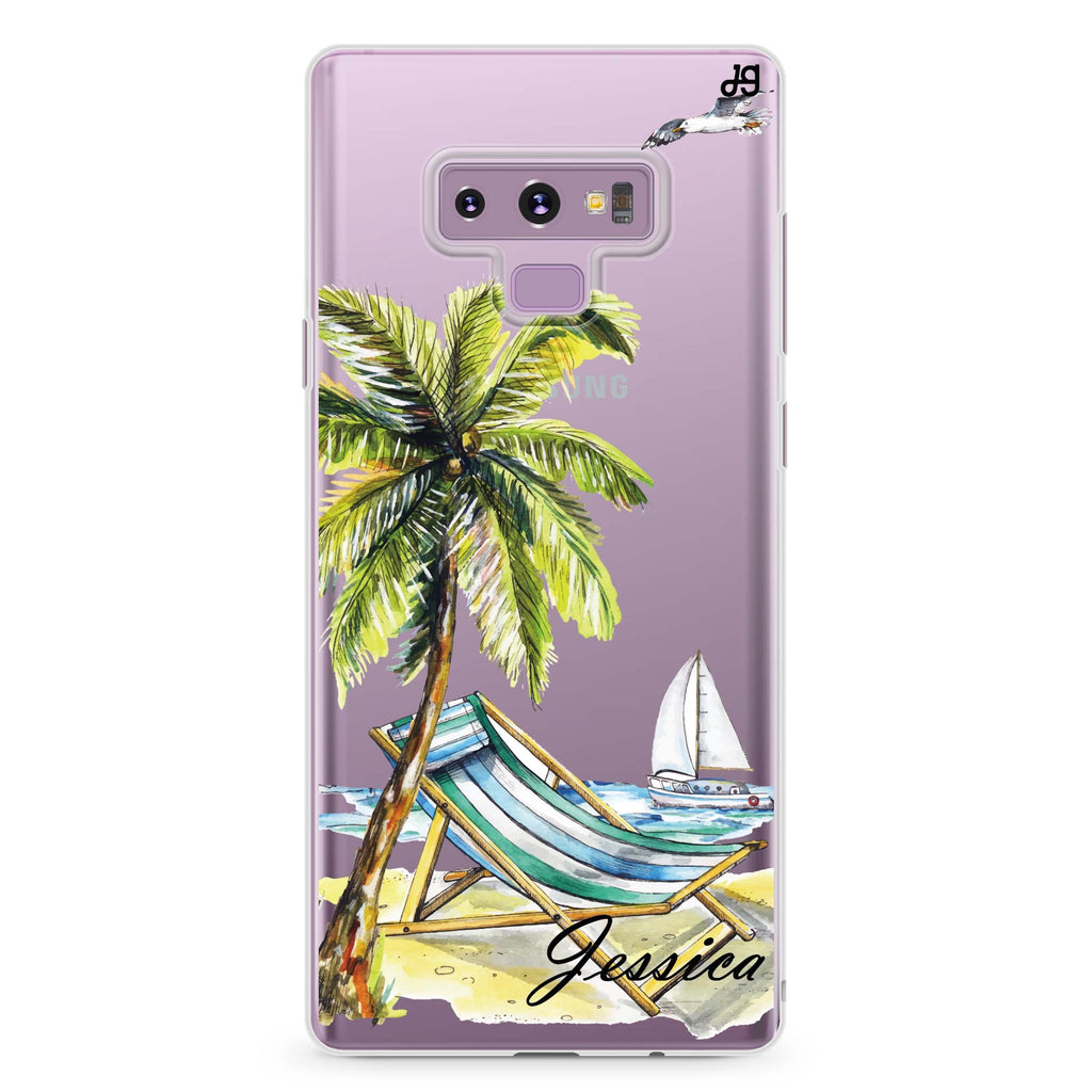 Summer on the beach Samsung Note 9 Soft Clear Case