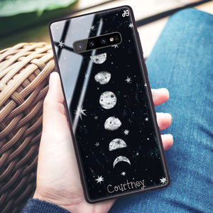 Phases of the moon Samsung S10 Plus Glass Case
