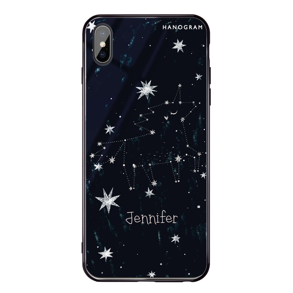 Unicorn Night iPhone XS Max Glass Case