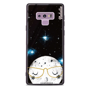 Glasses Moon Samsung Note 9 Glass Case