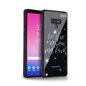 To the moon and back Samsung Note 9 Glass Case