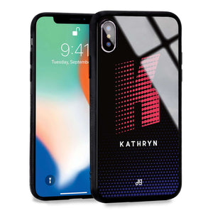 Racing Monogram iPhone XS Max Glass Case