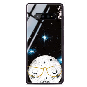 Glasses Moon Samsung S10 Plus Glass Case