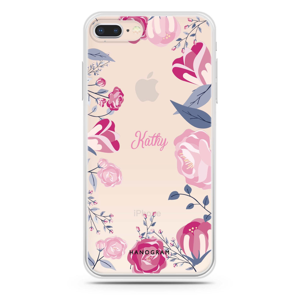 Trendy Flowers iPhone 7 Plus Soft Clear Case
