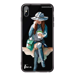 Coffee Girl iPhone XS Max Glass Case