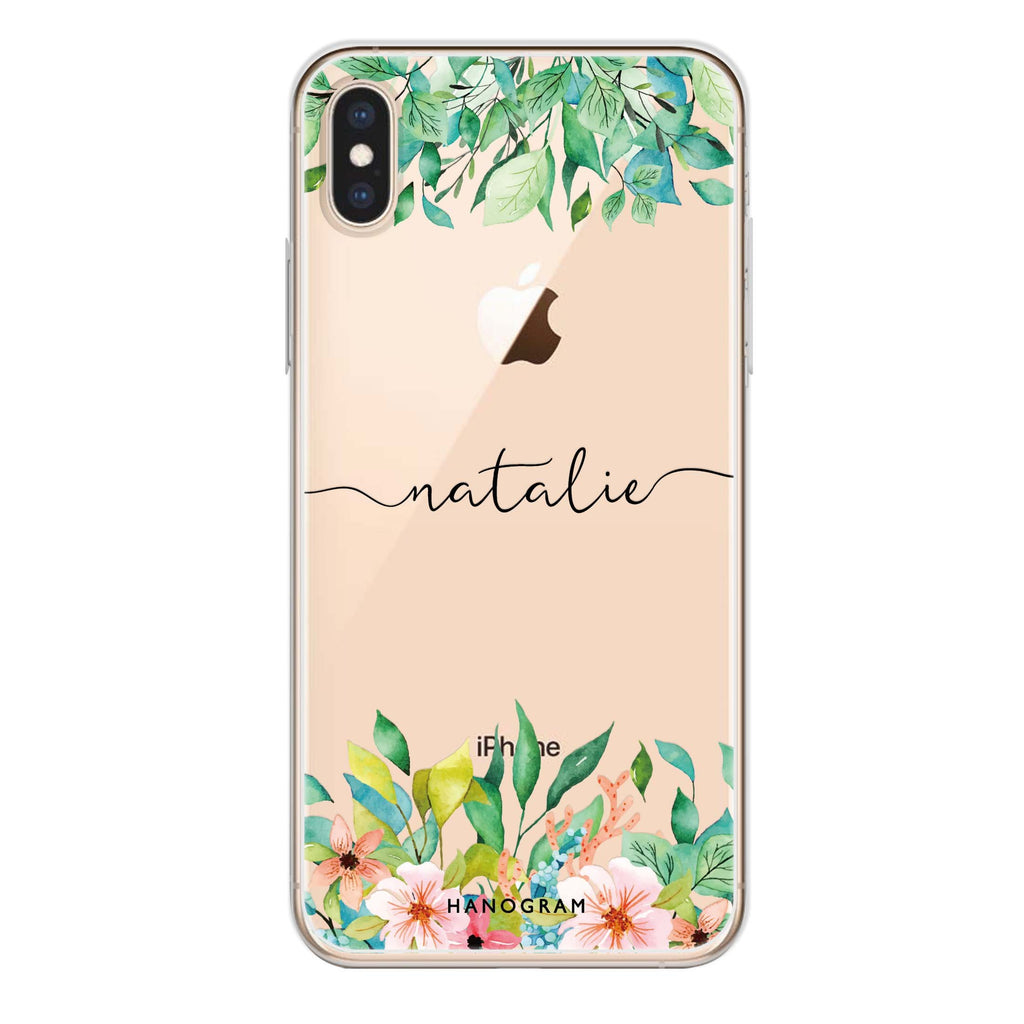 Floral Imagination iPhone XS Soft Clear Case