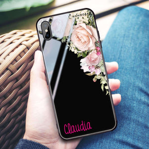 Elegant Rose I iPhone XS Max Glass Case
