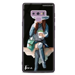 Coffee Girl Samsung Note 9 Glass Case