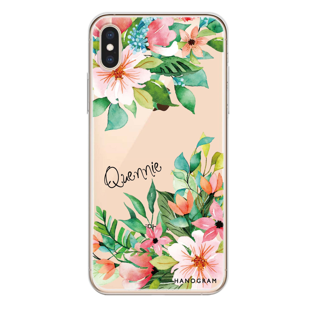 Flower Inspiration iPhone XS Soft Clear Case
