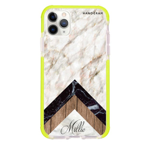 Marble & Wood Frosted Bumper Case